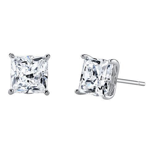DiamonArt® Cubic Zirconia 3½ CT. T.W. Square Stud Earrings