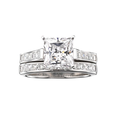 jcpenney.com | DiamonArt® Cubic Zirconia 3 3/4 CT. T.W. Bridal Ring Set
