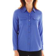 Liz Claiborne Long-Sleeve Campshirt