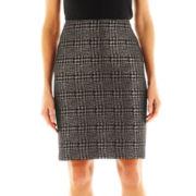 Liz Claiborne Metallic Houndstooth Pencil Skirt