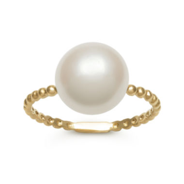 jcpenney.com | 14K Yellow Gold Cultured Freshwater Pearl Button Ring