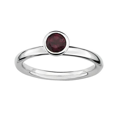 Personally Stackable Genuine Rhodolite Ring