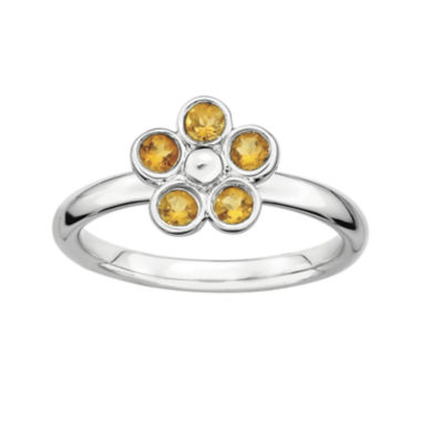 jcpenney.com | Personally Stackable Citrine Flower Ring