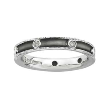 jcpenney.com | Personally Stackable Antiqued 1/6 CT. T.W. Diamond Ring