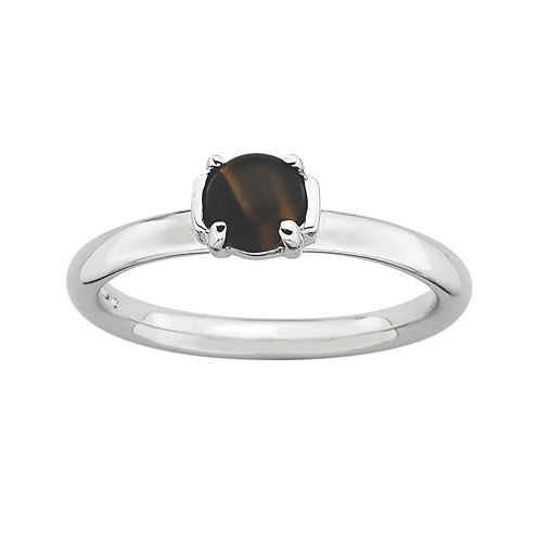 Personally Stackable Genuine Tiger's Eye Ring