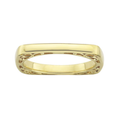 jcpenney.com | Personally Stackable 18K Gold Over Sterling Silver Square Stackable Ring