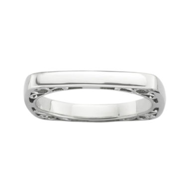 jcpenney.com | Personally Stackable Sterling Silver Square Stackable Ring