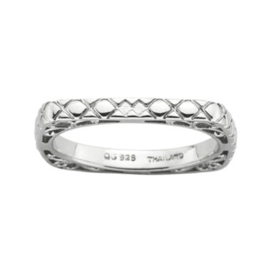 jcpenney.com | Personally Stackable Sterling Silver Square Ring