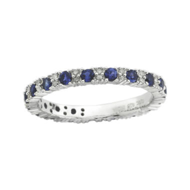 jcpenney.com | Personally Stackable Diamond-Accent Lab-Created Sapphire Ring