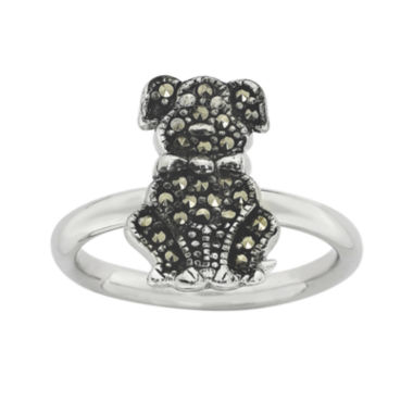 jcpenney.com | Personally Stackable Marcasite Sterling Silver Dog Ring
