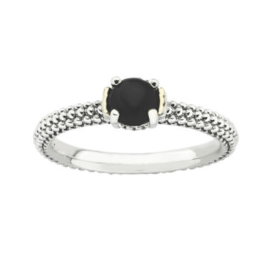 jcpenney.com | Personally Stackable Genuine Onyx Two-Tone Ring
