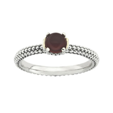 jcpenney.com | Personally Stackable Genuine Red Agate Two-Tone Ring
