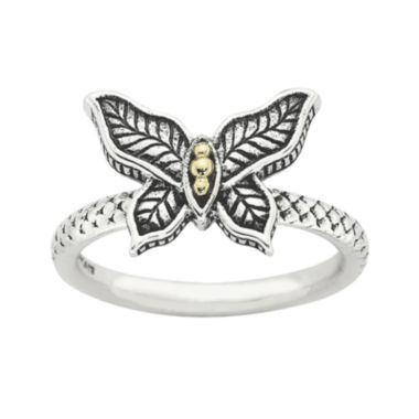 jcpenney.com | Personally Stackable Butterfly Two-Tone Ring