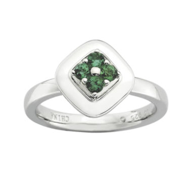 jcpenney.com | Personally Stackable Lab-Created Emerald Flower Cluster Ring