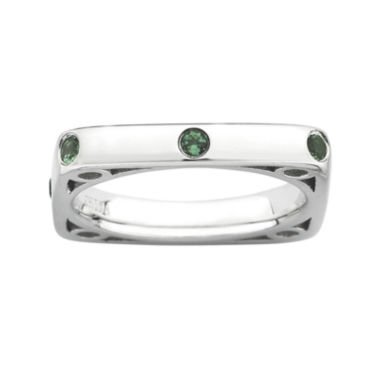 jcpenney.com | Personally Stackable Lab-Created Emerald Square Ring