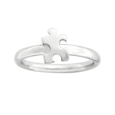 jcpenney.com | Personally Stackable Sterling Silver Puzzle Piece Ring