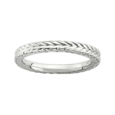jcpenney.com | Personally Stackable Sterling Silver Dome Wheat Ring