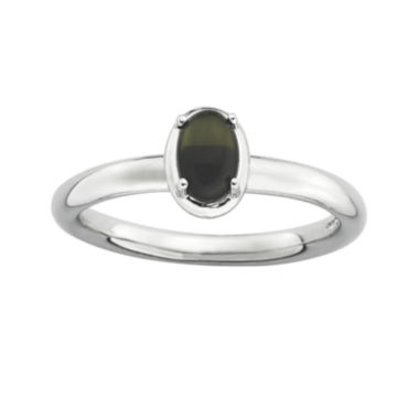 jcpenney.com | Personally Stackable Oval Genuine Onyx Sterling Silver Ring