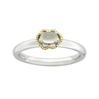 jcpenney.com | Personally Stackable Oval Genuine White Moonstone Two-Tone Ring