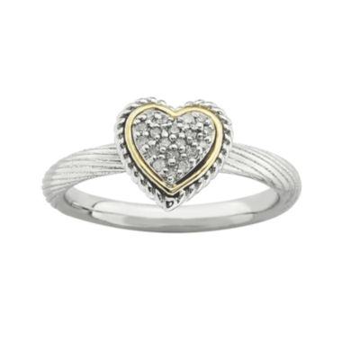 jcpenney.com | Personally Stackable Diamond-Accent Two-Tone Heart Ring