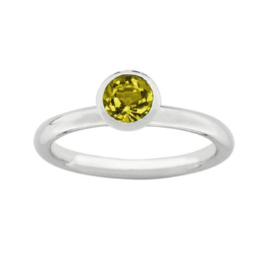 "jcpenney.com | Personally Stackable ""November"" Yellow Crystal Sterling Silver High Profile Ring"