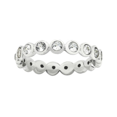 "jcpenney.com | Personally Stackable ""April"" Crystal Sterling Silver Eternity Ring"