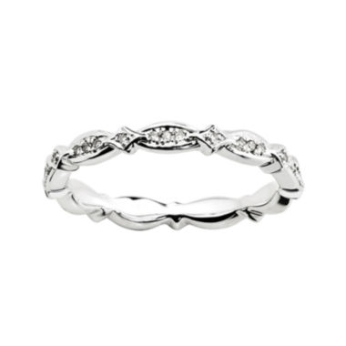 jcpenney.com | Personally Stackable 1/8 CT. T.W. Diamond Sterling Silver Fancy Eternity Ring