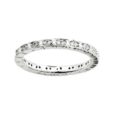jcpenney.com | Personally Stackable 1/7 CT. T.W. Diamond Eternity Ring