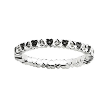 jcpenney.com | Personally Stackable 1/8 CT. T.W. White & Color-Enhanced Black Diamond Heart Rin