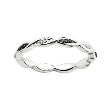 jcpenney.com | Personally Stackable White & Color-Enhanced Black Diamond-Accent Twist Ring