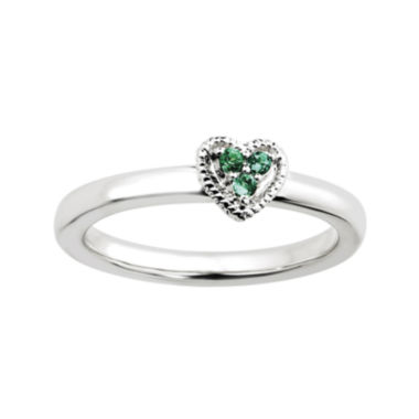 jcpenney.com | Personally Stackable Lab-Created Emerald Heart Ring