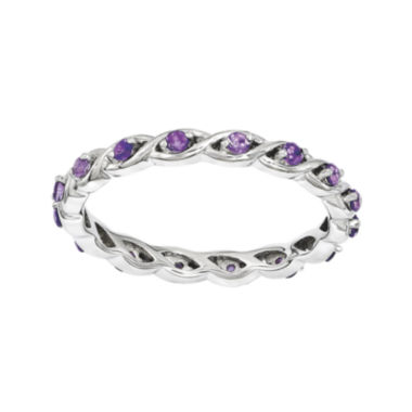jcpenney.com | Personally Stackable Genuine Amethyst Twisted Eternity Ring