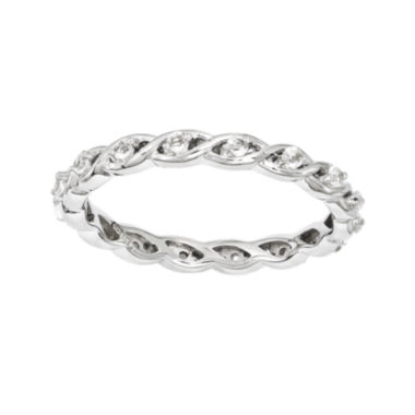 jcpenney.com | Personally Stackable Genuine White Topaz Twisted Eternity Ring