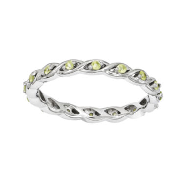 jcpenney.com | Personally Stackable Genuine Peridot Twisted Eternity Ring