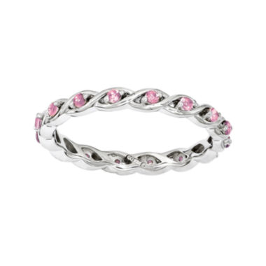 jcpenney.com | Personally Stackable Lab-Created Pink Sapphire Twisted Eternity Ring