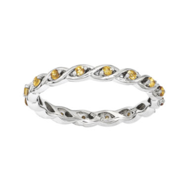jcpenney.com | Personally Stackable Genuine Citrine Twisted Eternity Ring
