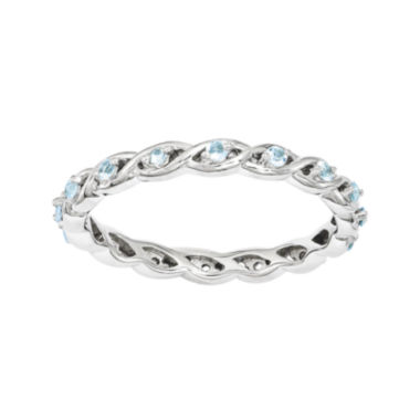 jcpenney.com | Personally Stackable Genuine Blue Topaz Twisted Eternity Ring