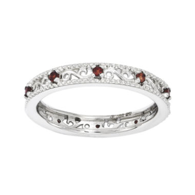 jcpenney.com | Personally Stackable Genuine Garnet Filigree Eternity Ring