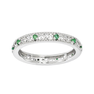 jcpenney.com | Personally Stackable Lab-Created Emerald Filigree Eternity Ring