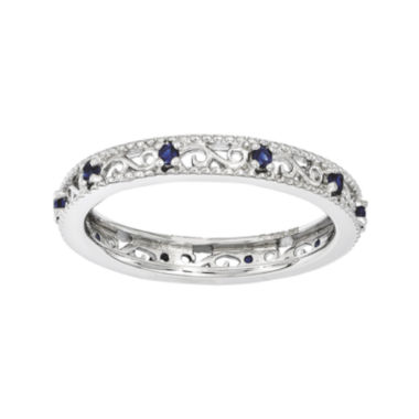 jcpenney.com | Personally Stackable Lab-Created Blue Sapphire Filigree Eternity Ring