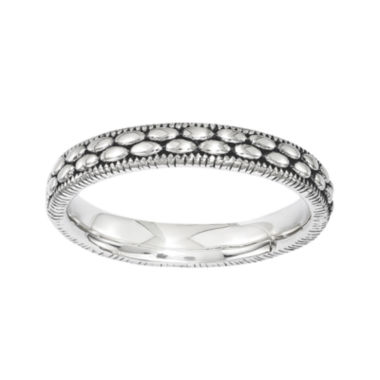 jcpenney.com | Personally Stackable Antiqued Sterling Silver Patterned Ring