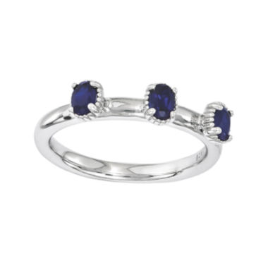 jcpenney.com | Personally Stackable Lab-Created Sapphire 3-Stone Ring