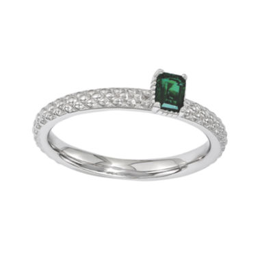 jcpenney.com | Personally Stackable Lab-Created Emerald Textured Ring