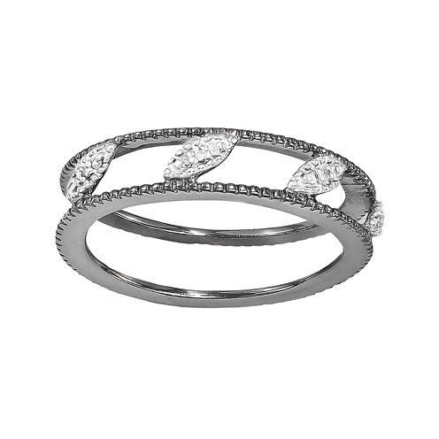 Personally Stackable Diamond-Accent Ring Jacket