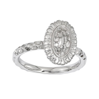 jcpenney.com | Personally Stackable Sterling Silver Sunflower Ring