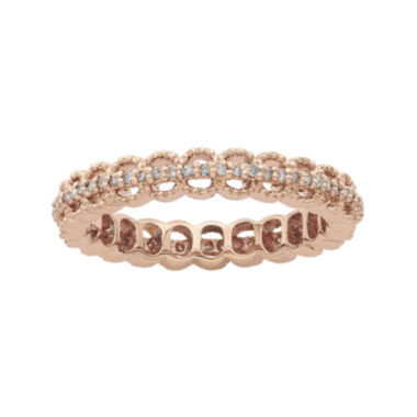 jcpenney.com | Personally Stackable 1/5 CT. T.W. Diamond 18K Rose Gold Open-Link Ring