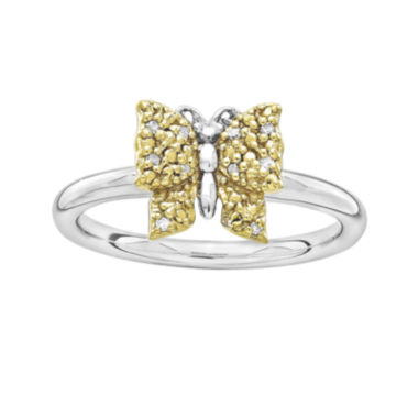 jcpenney.com | Personally Stackable Diamond-Accent Two-Tone Butterfly Ring