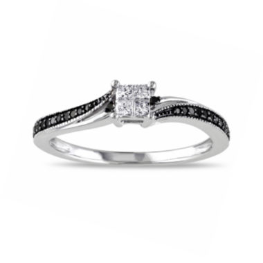 jcpenney.com | Midnight Black Diamond 1/5 CT. T.W. White & Color-Enhanced Black Diamond 10K White Gold Ring