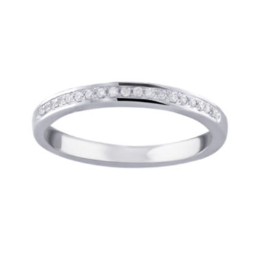 jcpenney.com | Cherished Hearts™ 1/10 CT. T.W. Diamond 14K White Gold Wedding Band