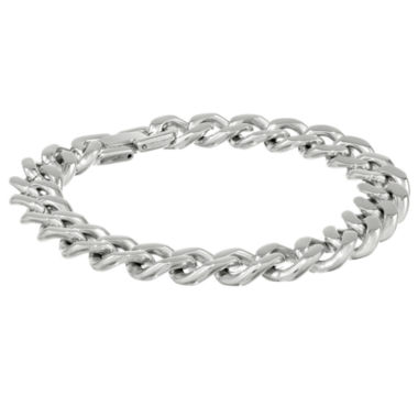 "jcpenney.com | Mens Stainless Steel 9"" 12mm Chunky Curb Bracelet"